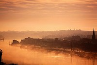 River Suir at Dawn, Waterford City, County Waterford, Ireland.