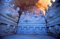 Damascus, Syrian National Museum, Hypogeum of Yarhai. 2nd Century AD Palmyran tomb. Syria