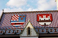 Roof of St. Mark´s church, Zagreb.