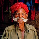 Man in Jaisalmer in Rajasthan in India in South Asia