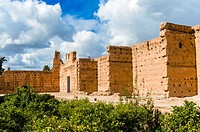 Ruins of the El Badii Palace (16th century), Marrakech (Marrakesh), Morocco, North Africa, Africa.