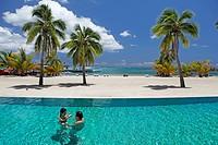 French Polynesia, leeward islands archipelago, island of Moorea, Intercontinental resort and hotel , swimming pool