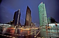 Potsdamer Platz at night, Berlin, Germany