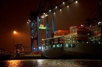 The Container terminal in Hamburg.