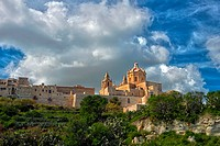 St Peters´s And St Paul´s Cathedral And The City Walls, Mdina, Malta.