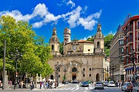 Church of San Nicolas, Bilbao, Biscay, Basque Country, Euskadi, Spain, Europe.