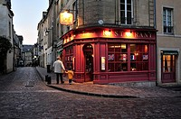 Quiet street in the evening, Bayeux, Calvados Department, Normandy, France.