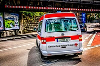 German Red Cross Ambulance in Ulm.