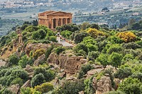 The Temple of Concordia, Tempio di Concordia, was built about 440 to 430 BC. The temple belongs to the archaeological sites of Agrigento. The city of ...