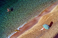 Europe, France, Alpes-Maritimes, Villefrance-sur-Mer. Rest on the beach.