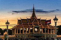 Sunset at the Moonlight Pavilion (Preah Thineang Chan Chhaya), is an open-air pavilion that serves as stage for Khmer classical dance. The Royal Palac...