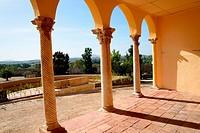 Interior Alcazaba Roman ruins, Merida, Spain.