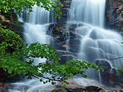 Gualba stream waterfall. Montseny Natural Park. Barcelona province, Catalonia, Spain.