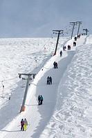 Ski at Kühtai, Innsbruck, Tyrol, Austria, Europe.