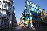 Shops at Sint Antoniesbreestraat in Old Side District Amsterdam.