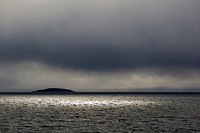 dark clouds over Arctic Ocean, Hinlopenstretet, Svalbard.