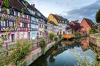 Petite Venice, Colmar, Alsace, France, Europe.