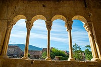 View from the Romanesque church. Sotosalbos, Segovia province, Castilla Leon, Spain.