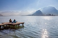 Talloires village on the bank of Annecy lake, Haute-Savoie, Rhône-Alpes, France.
