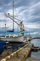 Vertical view of the Altea port, Alicante north, Spain.
