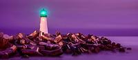 Santa Cruz Breakwater Lighthouse, California, USA.