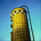 silo on a farm.