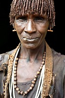 Woman belonging to the Hamer tribe. Omo valley ( Ethiopia).