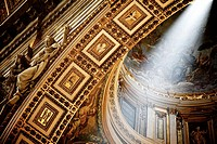 Interior of the Saint Peter Cathedral in Vatican.