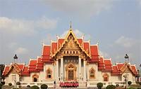 Thailand, Bangkok, Marble Temple, Wat Benchamabophit.