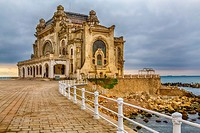 The old Casino on the shores of the Black Sea in Constanta, Romania.