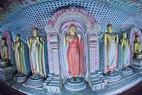 Golden Temple of Dambulla, Dambulla Cave Temple, UNESCO World Heritage Site, Kandy Province, Sri Lanka, Asia.