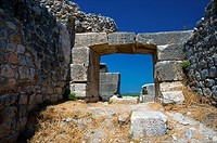 Doorway at the amphitheater at Miletos. Anatolia, Turkey.
