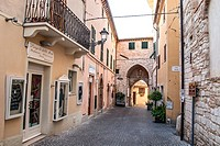 Old town of Sirolo, Marche, Italy.