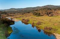 Viar river, Pallares, Badajoz province, Spain, Europe.