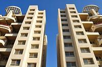 Top view of Building, Poona, Maharashtra, India.