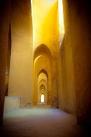 Inside the Alcazar of Seville.