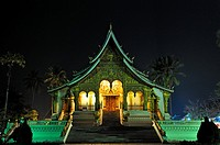 Haw Pha Bang temple built on the grounds of the Royal Palace Museum to enshrine the Phra Bang Buddha, the most highly reverred Buddha image in the cou...