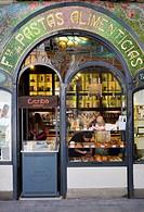 Spain, Catalonia, Barcelona, La Rambla, Pastry shop Escriba.