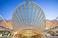 Gare do Oriente in Parque das Nações - Oriente station in Park of the Nations - from Santiago Calatrava architect, Lisboa, Portugal.