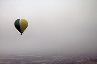 Hot air balloon, Anoia, Barcelona province, Catalonia, Spain