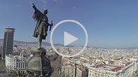 Colon Statue and las Ramblas, Barcelona, Spain