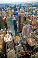 Aerial View Downtown Sydney Australia New South Wales AU.
