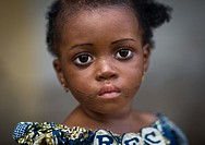 Benin, West Africa, Copargo, miss aïcha from bariba ethny with scars on the face.