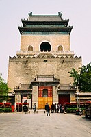 Beijing, China - The view of bell tower in the daytime.
