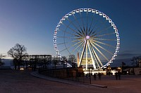 Grand wheel from the garden of Tuilleries, Paris, Ile-de-france, France.