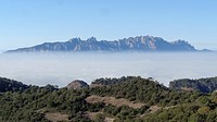 Montserrat Mountains seen from Serra de l´Obac. Catalonia, Spain.