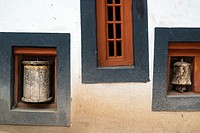 Buddhist prayer -rolls. Hemis gompa. Indus valley, Ladakh (india).