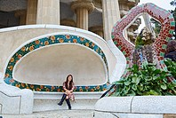 Park Güell by Antonio Gaudí. Barcelona. Catalonia. Spain.
