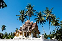 Asia. South-East Asia. Laos. Province of Luang Prabang, city of Luang Prabang, World heritage of UNESCO since 1995. Royal Palace National Museum, Wat ...