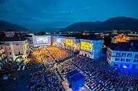 Film Festival Locarno in Ticino, Switzerland.